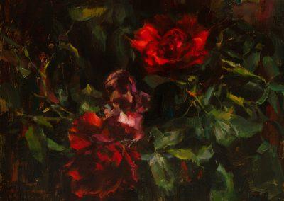Wild Roses - 9 x 12
